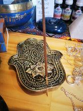 Load image into Gallery viewer, Hamsa Incense Holder Hand - Ocean Gypsy NZ