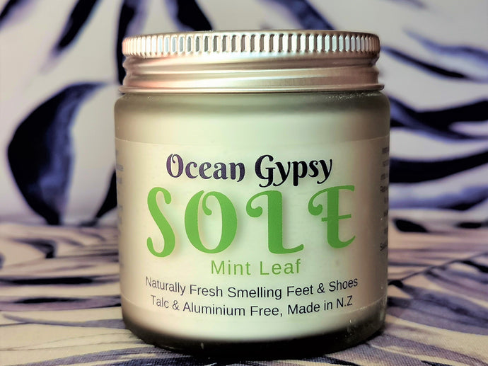 Sole Ocean Gypsy Feet & Shoe Powder Mint Leaf Scent - Ocean Gypsy NZ