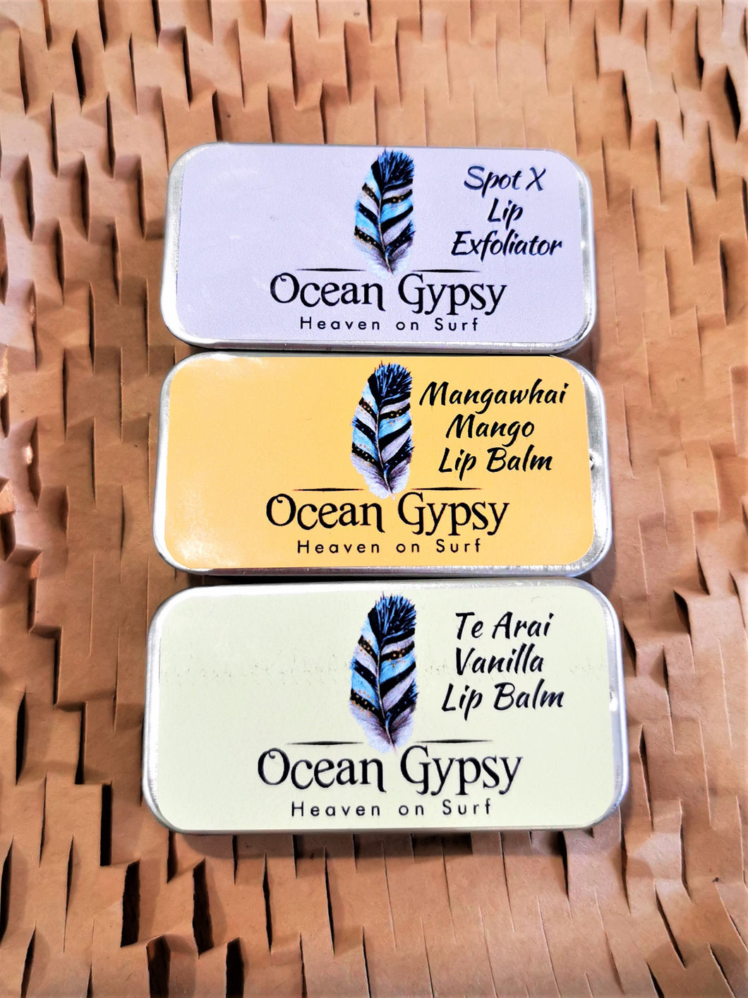 Ocean Gypsy Lipbalm in four different styles - Ocean Gypsy NZ