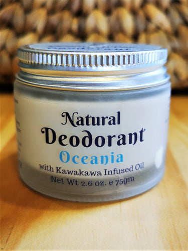 Oceania Scented Natural Deodorant Arm Balm infused with Kawakawa Oil - Ocean Gypsy NZ
