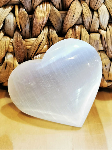 Large Selenite Heart - Ocean Gypsy NZ