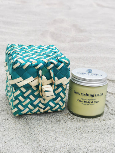 Fair Trade Gift Box which includes an item of your choice Nourishing Balm, Natural Deodorant or Beach Hair Balm - Ocean Gypsy NZ