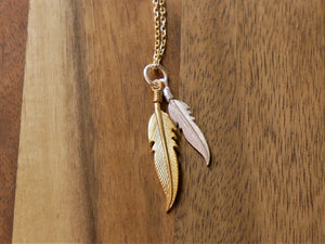 Gold & Silver Ocean Gypsy Feather Necklace - Ocean Gypsy NZ