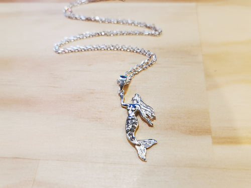 Sparkling Mermaid Necklace with Italian Chain