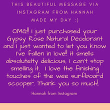Load image into Gallery viewer, Gypsy Rose Scented Natural Deodorant Arm Balm infused with Kawakawa Oil - Ocean Gypsy NZ