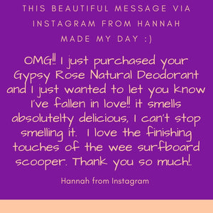 Gypsy Rose Scented Natural Deodorant Arm Balm infused with Kawakawa Oil - Ocean Gypsy NZ