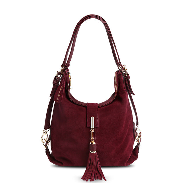 Suede Leather Shoulder Bag