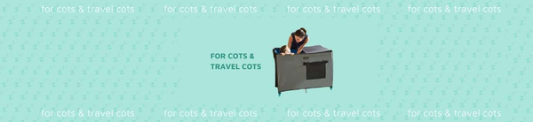 Travel cot and cot shades