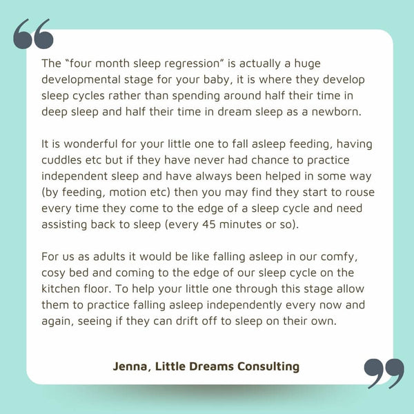 Four month sleep regression Little Dreams Consulting