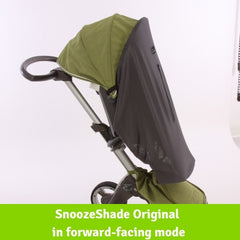 SnoozeShade Original Deluxe on a forward-facing Stokke Xplory