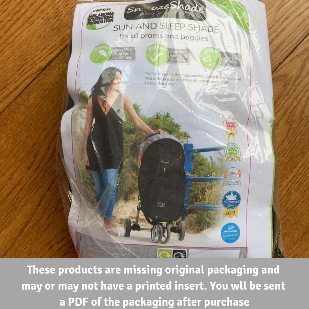 SnoozeShade Baby Car Seat Canopy (missing or damaged packaging)