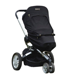 SnoozeShade Plus (6m+) pushchair and buggy sun shade | Universal fit | Blocks up to 99% of UV