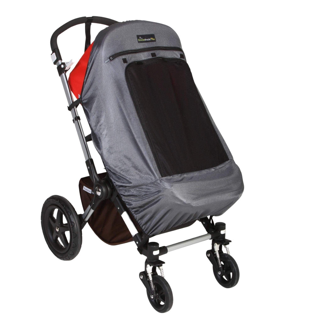 SnoozeShade Plus Deluxe (6m+) stroller and pushchair sunshade | Universal fit | | Blocks up to 97.5% of UV - SnoozeShade UK