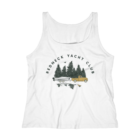 Women's Relaxed Tank Top - Redneck Yacht Club