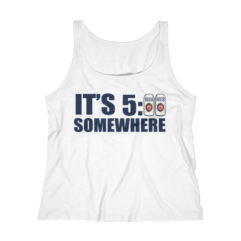 Women's Relaxed Tank Top - It's 5:00 Somewhere