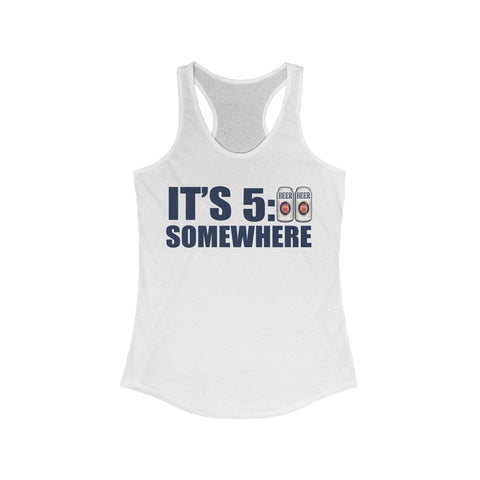 Women's Racerback - It's 5:00 Somewhere