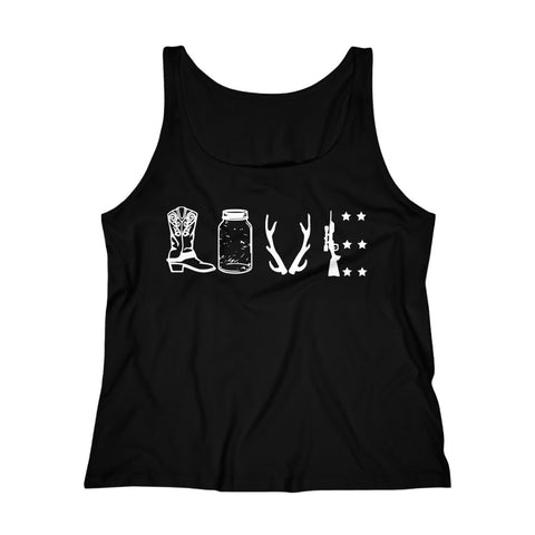 Women's Relaxed Tank Top - Country Love