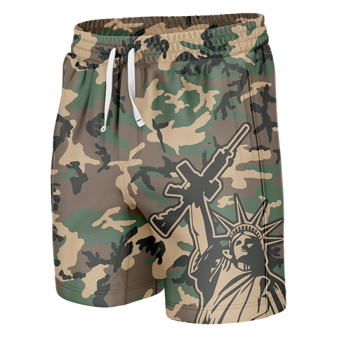 Came Statue Of Liberty Swim Trunks