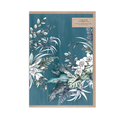 Teal Foliage Gift Card