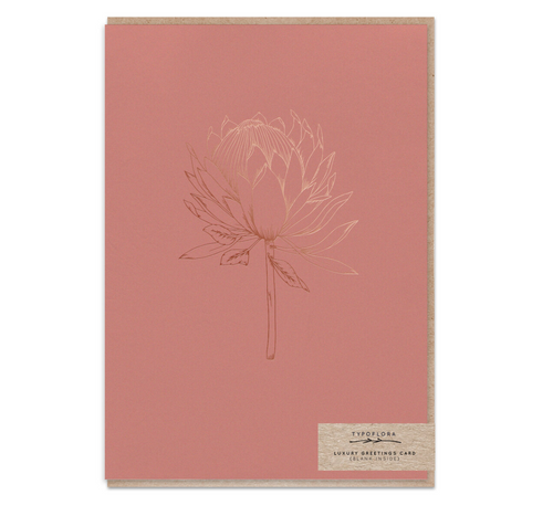 Terracotta King Protea Gift Card