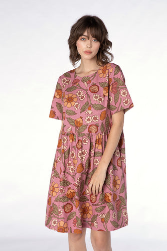 Fruits and Flora Smock Dress