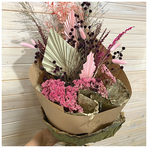 Gift Wrapped Bouquet - Dried Flowers
