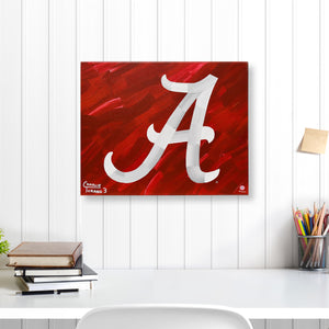 "Alabama Crimson Tide 16"" x 20"" Embellished Giclee"