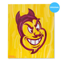 "Load image into Gallery viewer, Arizona State Sun Devils 20"" x 24"" Original Artwork (Sparky Head)"