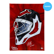 "Load image into Gallery viewer, Martin Brodeur Signed 16"" x 20"" Embellished Giclee (Limited Edition)"