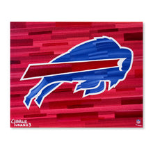 "Load image into Gallery viewer, Buffalo Bills 16"" x 20"" Embellished Giclee"