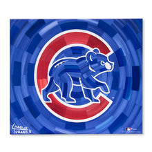 "Load image into Gallery viewer, Chicago Cubs 16"" x 20"" Embellished Giclee (Bear)"