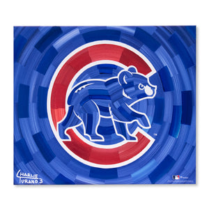 "Chicago Cubs 16"" x 20"" Embellished Giclee (Bear)"
