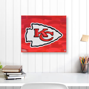 "Kansas City Chiefs 16"" x 20"" Embellished Giclee"
