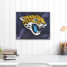 "Load image into Gallery viewer, Jacksonville Jaguars 16"" x 20"" Embellished Giclee"