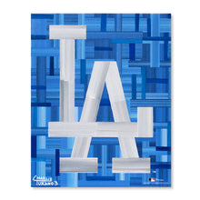 "Load image into Gallery viewer, Los Angeles Dodgers 16"" x 20"" Embellished Giclee (LA)"