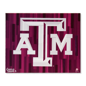 "Texas A&M Aggies 16"" x 20"" Embellished Giclee"