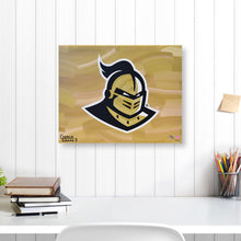 "Load image into Gallery viewer, UCF Knights 16"" x 20"" Embellished Giclee (Knight)"