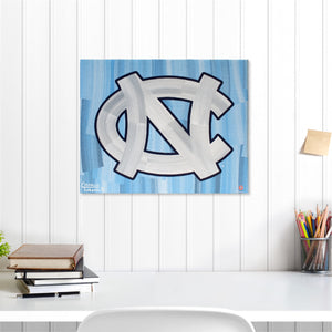 "North Carolina Tar Heels 16"" x 20"" Embellished Giclee"