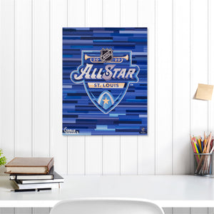 "2020 NHL All-Star Game 16"" x 20"" Embellished Giclee"