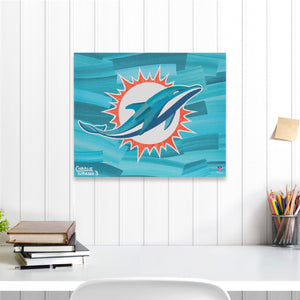 "Miami Dolphins 16"" x 20"" Embellished Giclee"