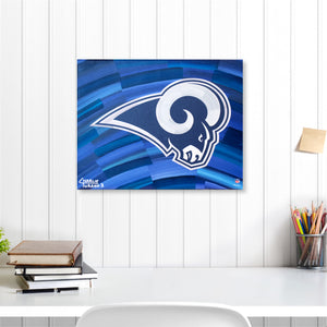 "Los Angeles Rams 16"" x 20"" Embellished Giclee"