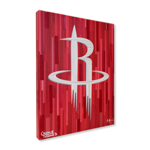 "Houston Rockets 16"" x 20"" Embellished Giclee"