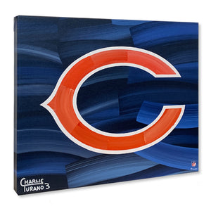 "Chicago Bears 16"" x 20"" Embellished Giclee"