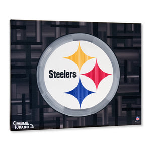 "Pittsburgh Steelers 16"" x 20"" Embellished Giclee"
