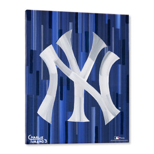 "New York Yankees 16"" x 20"" Embellished Giclee (Navy)"