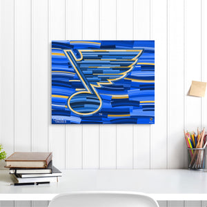 "St. Louis Blues 16"" x 20"" Embellished Giclee"