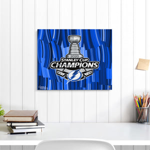 "2020 Stanley Cup Champions 16"" x 20"" Embellished Giclee"