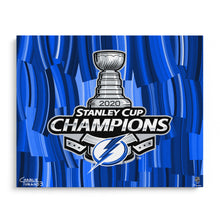 "Load image into Gallery viewer, 2020 Stanley Cup Champions 16"" x 20"" Embellished Giclee"