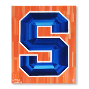 "Syracuse Orange 16"" x 20"" Embellished Giclee"