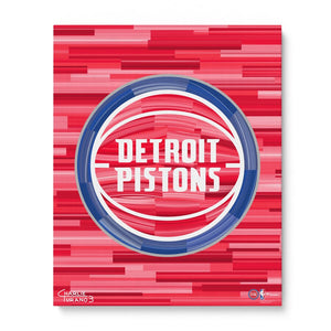"Detroit Pistons 16"" x 20"" Embellished Giclee"